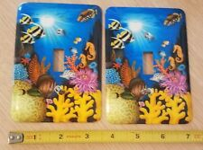 Nautical Sealife Ocean Light Switch Plate Cover(s) w/ hardware