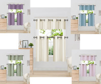 "3pc SET KITCHEN GROMMET WINDOW CURTAIN DRESSING WITH 2 TIER & VALANCE  K9 36""L"