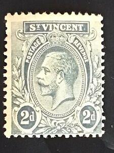 St Vincent stamp GV 2d grey MH