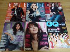 """Lot de magazines """"ELLE"""" 5 N°s+ GQ (février 2018)"""