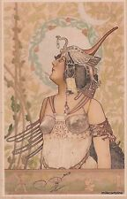 ART NOUVEAU -ARPAD BASCH - HUNGARIAN JEWISH PAINTER - WARRIER WOMAN