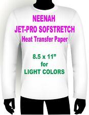 "JET PRO SOFSTRETCH INKJET HEAT IRON ON TRANSFER PAPER 8.5 X 11"" - 95 SHEETS"