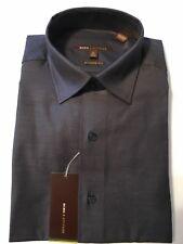 BCBG Modern Fit 100% Cotton Spread Collar Gray Dress Shirt 15 1/2 - 34/35