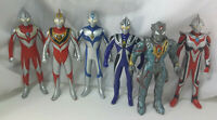 "Ultraman Figure Tiga Gaia Agul Nexus Dyna 6 Lot 1998-2009 Bandai 6"" Ultra Hero!"