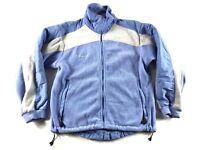 COLUMBIA Women's Baby Blue Long Sleeve Fleece Jacket Coat Size M Medium
