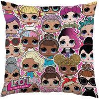Official LOL Dolls Surprise Soft Cushion Travel Reversible Plush Pillow Gift