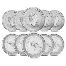 Lot of 10 - 2020 1 oz Australian Silver Kangaroo Perth Mint Coin .9999 Fine BU