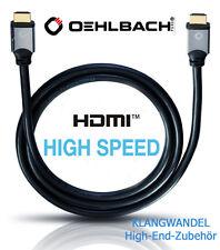 Oehlbach Black Magic 75 High-Speed-Câble HDMI avec Ethernet 4k HDR 75 cm NEUF 92450