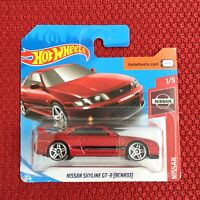 Hot Wheels NISSAN SKYLINE GT-R BCNR33 RED Color Car Toy Mattel Brand NEW