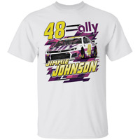 Men's #48 Jimmie Johnson Team Collection ally Short Sleeve White T-Shirt S-4XL