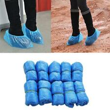 100 Blue Disposable Plastic Anti Slip Shoe Covers Cleaning Overshoes Protective