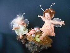 One of Kind Hand Sculpted Dancing Fairies by Original Doll Artist Virginia Keith