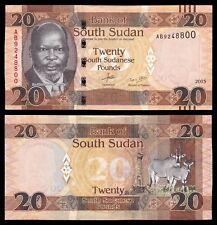 Sudan del Sur - South Sudan 20 South Sudanese Pounds 2015 Pick 13a SC = UNC