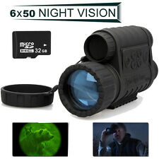 WG-50 HD 720P Infrared Night Vision IR Hunting Sailling Monocular Telescope 6x50
