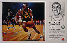 Sam Jones CELTICS 1990 Boston Celtics Basketball CITGO poster Mike Wimmer art