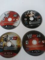 WWE 2K15 WWE 2K14 WWE 12 Smackdown  Raw PS3 PlayStation 3 Game Bundle Disc Only