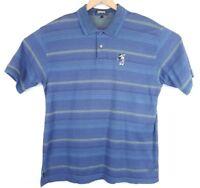 Disney Ashworth Men's Polo Mickey Mouse Golf 90's Short Sleeve Vtg Blue Sz XL