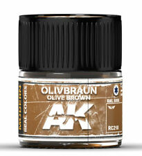 Ak Interactive #Aki-Rc218 Real Colors: Olive Braun-Olive Brown Ral 8008 Paint