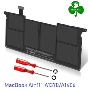 """Battery for Apple MacBook Air Mid 2011 A1370 11"""" 020-7377-A A1406 MC505 11-inch"""