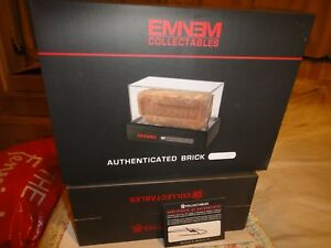 Eminem Signed Authentic Brick, Dog Tag, MMLP Cassette Size M T-Shirt RARE!!!