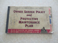 Original EJ Holden Special sedan owner service policy & maintenance plan booklet