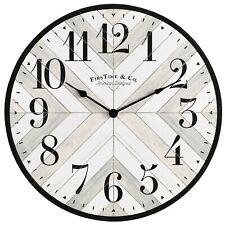 Farmhouse Lath Wall Clock, Gray, 20 in, Analog