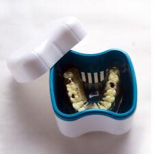 Denture Clean Case Container False Teeth Dental Tooth Storage Box Rinsing Basket