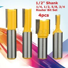 4pcs/set 1/2'' Shank Undersized Dado for Plywood 1/4, 1/2, 5/8, 3/4 Router Bit