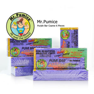6 Pieces Mr. Pumice Purple Coarse Pumi Bar Stone