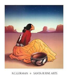 LA NOCHE ART PRINT BY NAVAJO ARTIST R.C. GORMAN southwest pottery poster