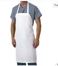 white chef apron cooking kitchen poly/ cotton 28x35 - Pack Of 4
