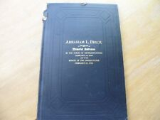 Memorial Address by Abraham L. Brick in the House of Rep. 2-14-1909 & Senate of