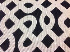Robert Allen Modern Geometric Upholstery Fabric- Graphic Maze / Ebony 2.0 yd