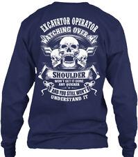 Excavator Operator - Watching Over My Shoulder Gildan Long Sleeve Tee T-Shirt