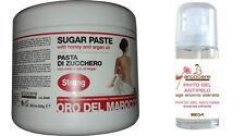 Pasta di Zucchero Depilazione araba 500gr+Gel Ritardante Ricrescita-Papaya 30ml