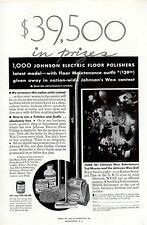 Vintage print ad 1931 Johnson Electric Floor Polisher Ted Weems Johnson Wax Doll