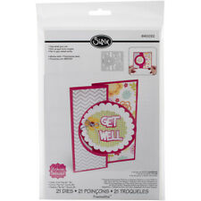 Sizzix Framelits Dies By Stephanie Barnard 20/Pkg-Circle #4 Flip-Its Card
