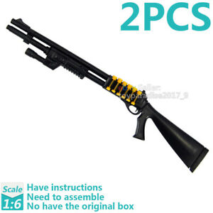 "1/6 1:6 12"" Action Figure 4D Gun Model Shotgun M1 Super90 Terminator SWAT"