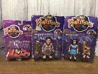 The Flintstones 1993 Mattel Big Shot Fred Betty Bamm-Bamm Le Saber Tooth Figures