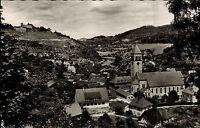 Obertsrot bei Gernbach Murgtal alte s/w AK 1960 Teilansicht mit Schloß Eberstein