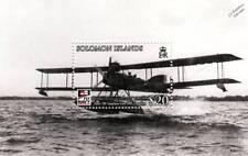SHORTAdmiralty Type 184 Seaplane Aircraft Stamp Sheet (2009 Solomon Islands)