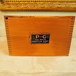 """VINTAGE PROCTOR & GAMBLE """"THE WHITE NAPHTHA SOAP"""" WOOD CRATE REPLICA of 1911"""