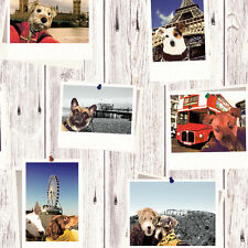 MURIVA SELFIE DOGS PARIS LONDON HOLLYWOOD QUALITY FEATURE WALLPAPER 102558