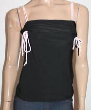 CAROLINE MORGAN Designer Black Ruched Cami Top Size M BNWT #sQ42