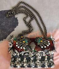Kurt Geiger mini kensington bag tweed rainbow embellished diamante NEW