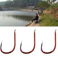 50pcs High Carbon Steel ISEAMA Barbed Luminous Fishing Hook Useful Quality