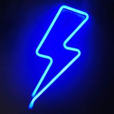 Orgrimmar Neon Light Lightning Bolt Blue Led Neon Signs Decorative Wall Light