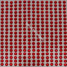 684 x 4mm Red Rhinestone Diamante Stick On Self Adhesive Strip GEMS Diamonte