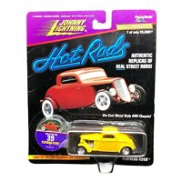Johnny Lightning Hot Rods 1933 '33 Ford Flathead Flyer Coupe Car Yellow 1/64