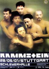 Original Konzertplakat  Rammstein  28.5.2001   Stuttgart Schleyerhalle